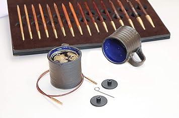100 cm 80 KnitPro Set austauschbare Rundstricknadeln Weihnachtsset Knit /& Sip 3,5-8,0 mm 60