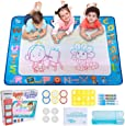 Hautton Magic Water Doodle Mat, 39.5 x 31.5 Inch Large Drawing Coloring Mat Painting Writing Board with 15 Accessories Educational Learning Toy  Toddlers Kids Boys Girls Age 2 3 4 5 6 7 8