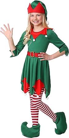 Amazon.com: Disfraz de elfo de Navidad para niños de Papá ...