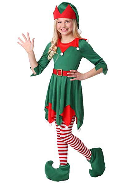 7b55ec8fc2104 Girl's Santa's Helper Costume X-Small. Roll over image to zoom in. Fun  Costumes
