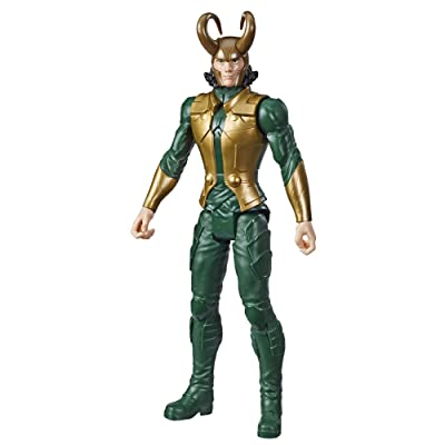 "Avengers Marvel Titan Hero Series Blast Gear Loki Action Figure, 12"" Toy, Inspired by The Marvel Universe, for Kids Ages 4 & Up: Toys & Games"