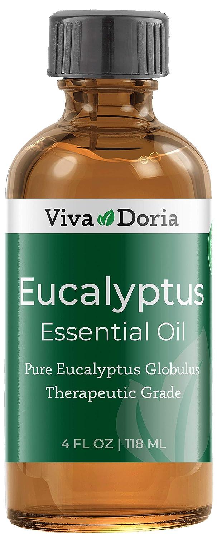 Viva Doria 100% Pure Eucalyptus Globulus Essential Oil, Undiluted, Therapeutic Grade, 118 mL
