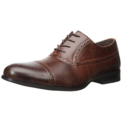 Kenneth Cole Unlisted Men's R-Eel Strong Oxford, Brown, 7.5 M US | Oxfords