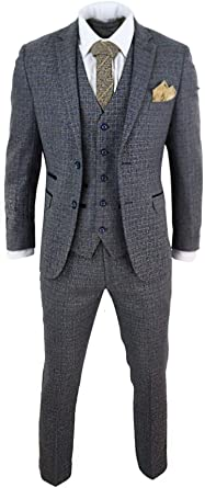 Mens 3 Piece Suit Gatsby 1920s Blinders Gangster Pinstripe Tailored Fit