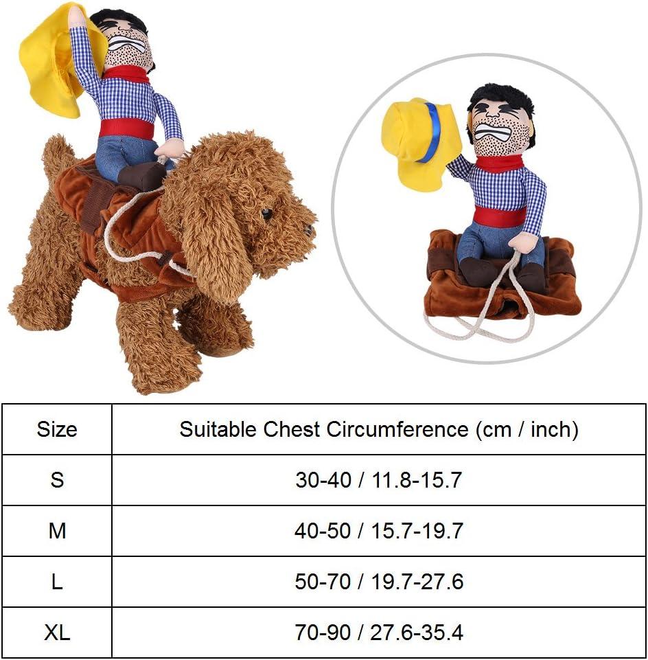 Filfeel Disfraz de Vaquero para Mascotas