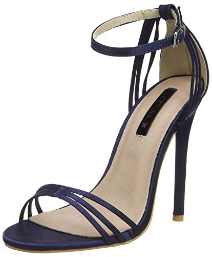 5fe7af398 Lost Ink Women's Faye Barely There (Wide Fit) Open Toe Heels, Blue (