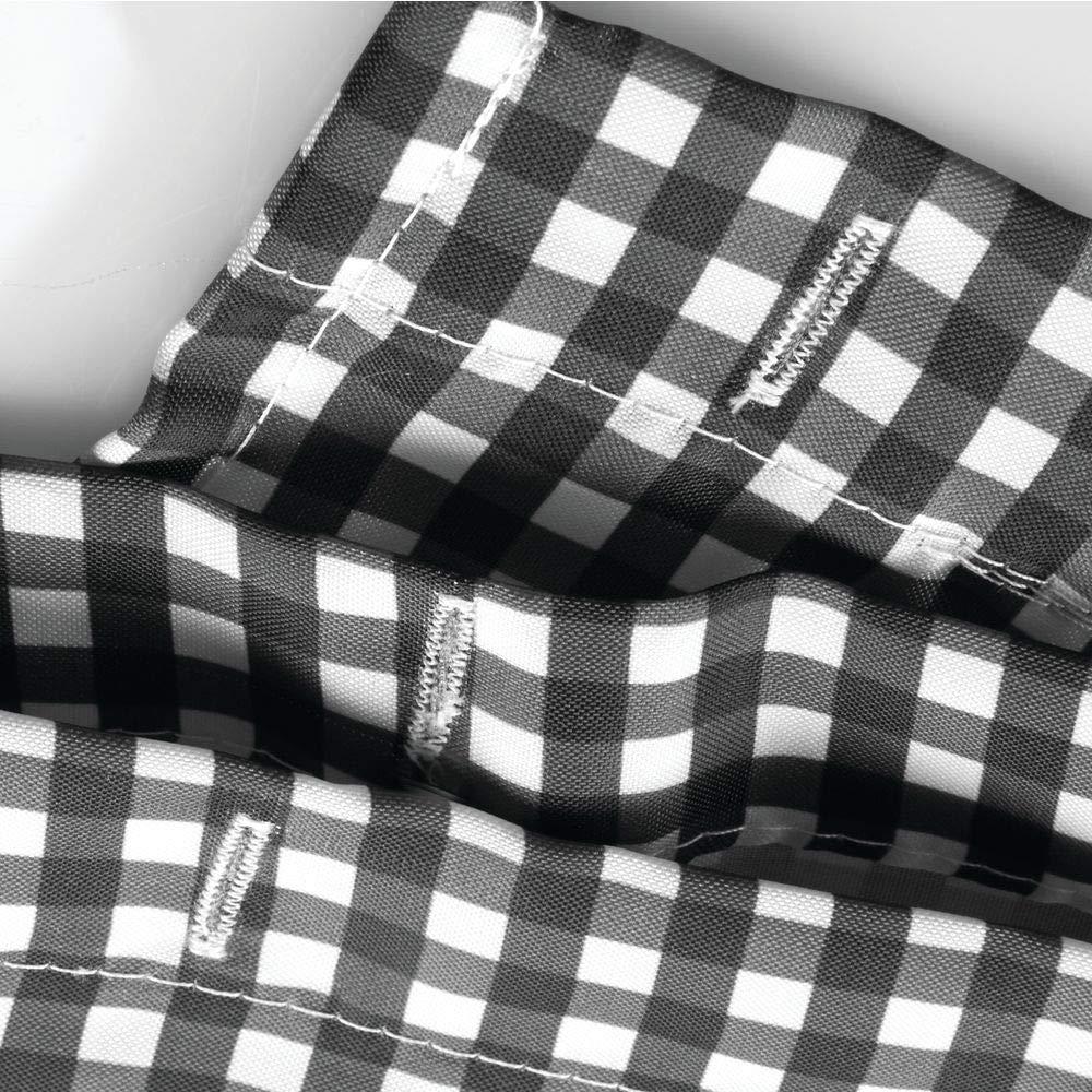 Poliestere nero//bianco InterDesign SophistiCat Tenda da doccia Tenda per vasca da bagno con motivo a gattini Tenda in poliestere 183,0 cm x 183,0 cm