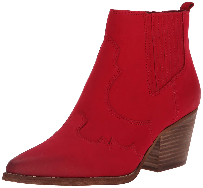 Deep Red Leather Sam Edelman Womens Winona Western Boot