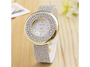 JKHGJUH Relojes de Cuarzo para Mujer Unique Diamond Casual analógico Marble Lady Reloj Mujer Relojes