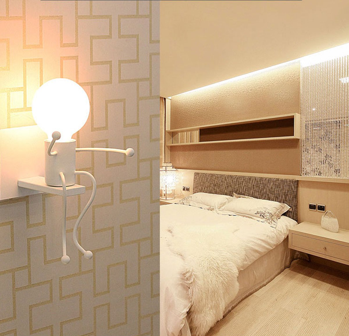 E27 Lampe Murale Applique Murale Couloir de la lampe Miroir lampe luminaire Couloir de la lampe pour Couloir Toilettes la chambre /à coucher Loft Chambre /à coucher Office Home