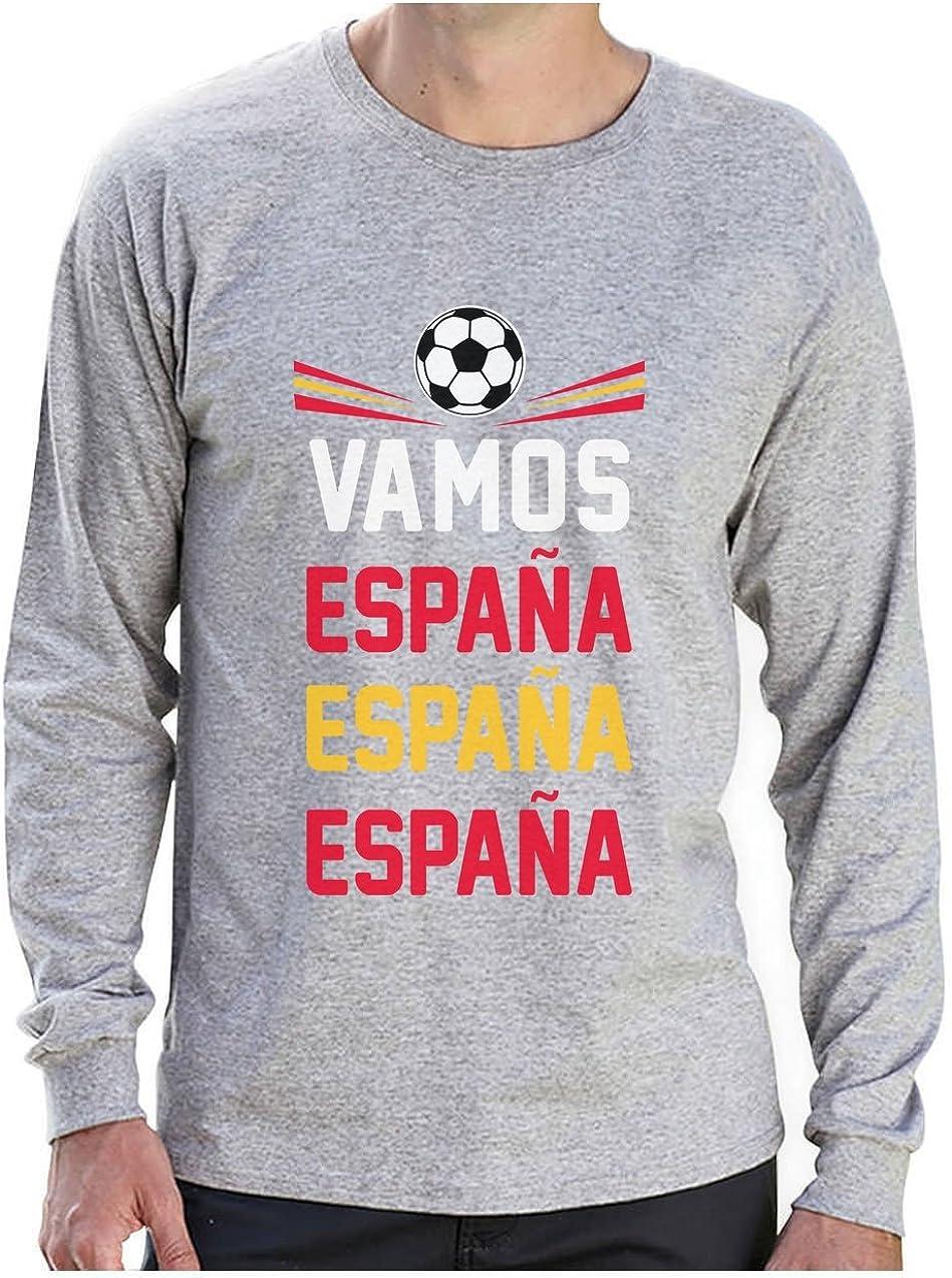 Camiseta de Manga Larga para Hombre - Vamos España - Apoyemos a la elección Española!: Amazon.es: Ropa y accesorios