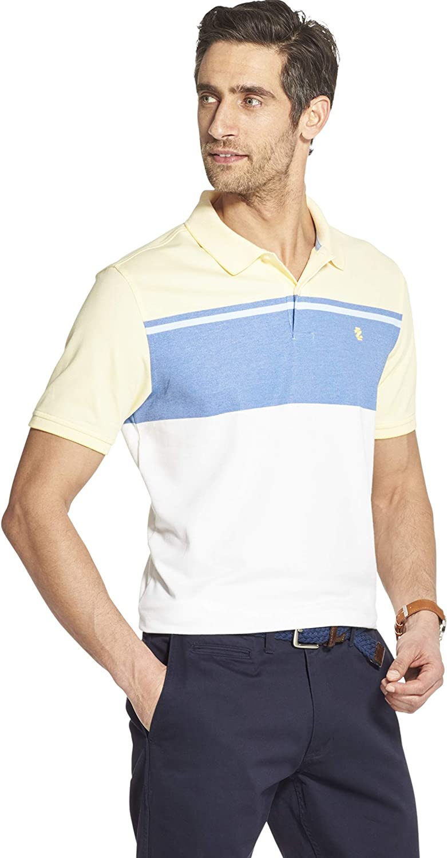 IZOD Mens Advantage Performance Short Sleeve Colorblock Polo