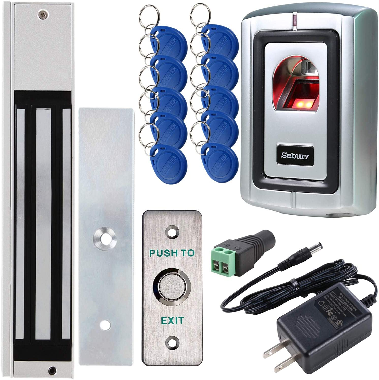 Fingerprint Outswinging Door Access Control System With 600lbs Electric Magnetic Lock Home & Kitchen