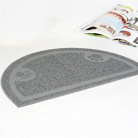 STAZSX Esteras del gato del animal doméstico semicircular alfombra de limpieza de gatos felpudos felinos esteras