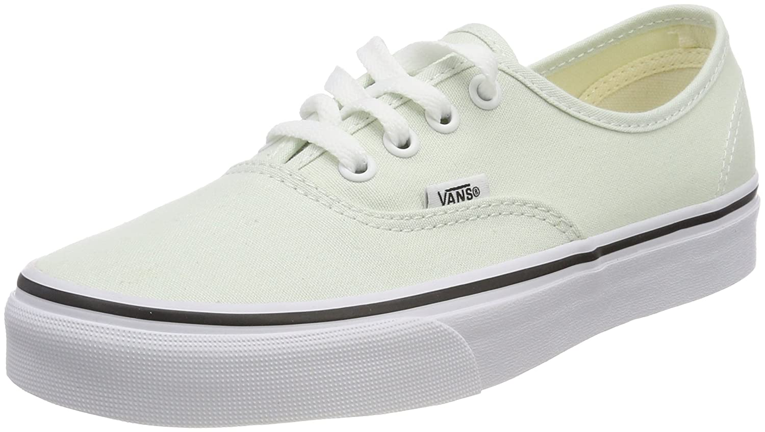 Vans Unisex Authentic Canvas Shoes B074H7PP4J 6 M US Women / 4.5 M US Men|Blue Flower/True White