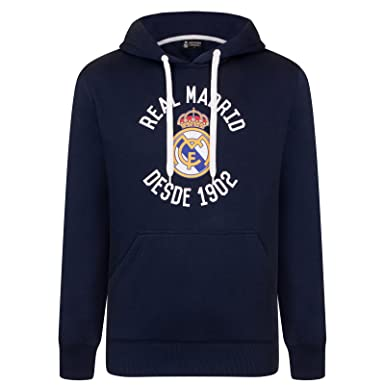 Real Madrid Official Football Gift Mens Graphic Fleece Hoody Medium