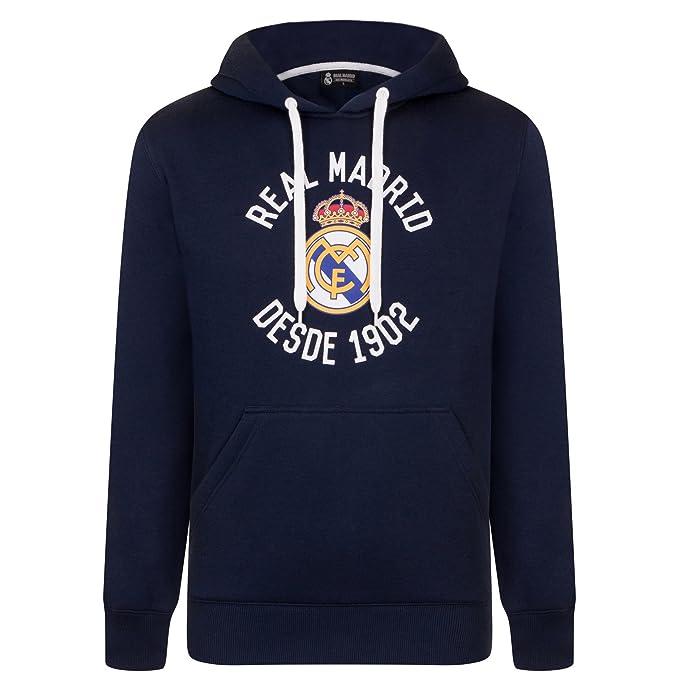 Real Madrid Sudadera Oficial con Capucha - para Hombre - con el Escudo del Club - Forro Polar: Amazon.es: Ropa y accesorios