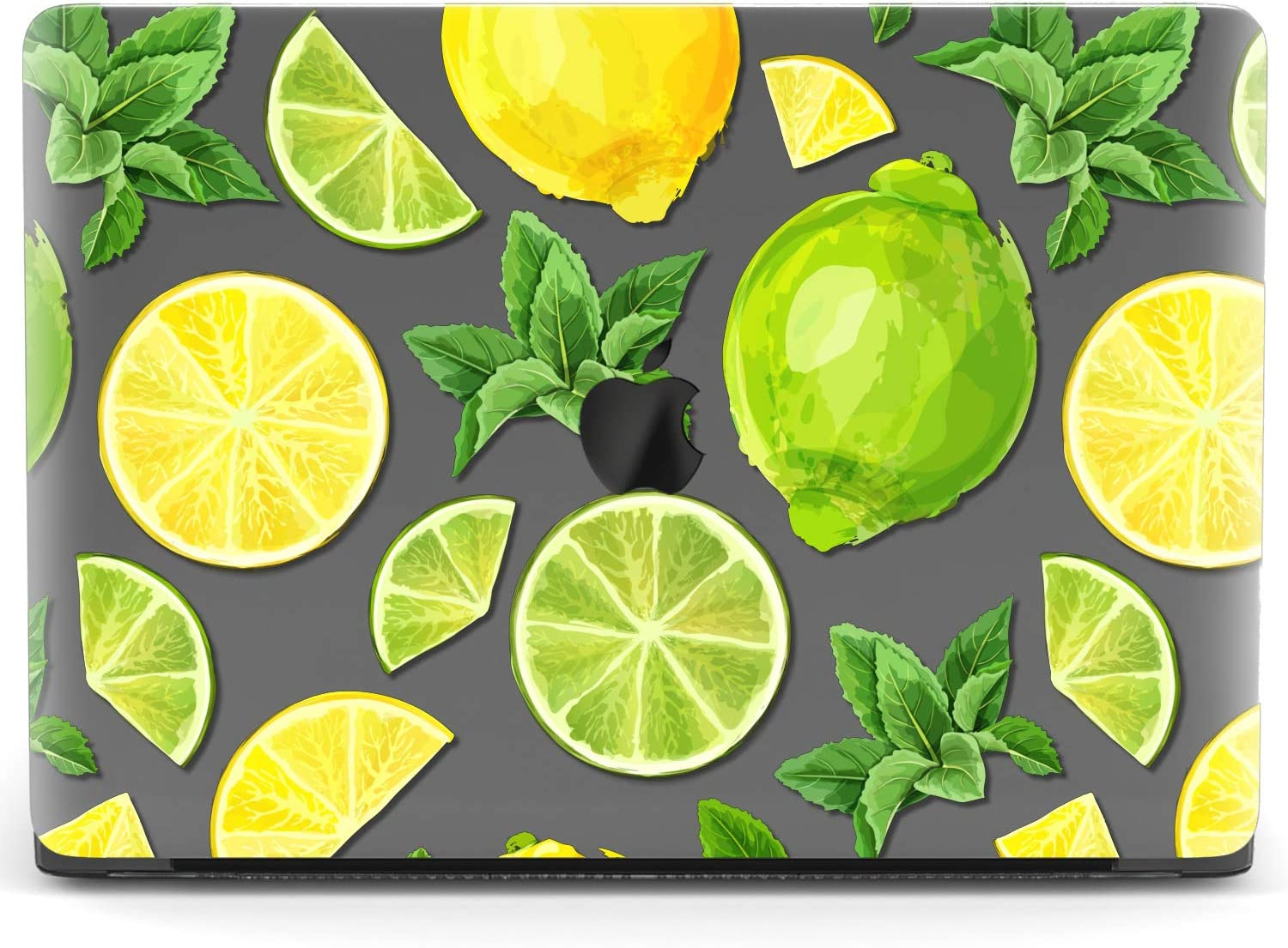 Mertak Hard Case for Apple MacBook Pro 16 Air 13 inch Mac 15 Retina 12 11 2020 2019 2018 2017 Touch Bar Lime Mohito Cover Shell Slice Print Laptop Design Protective Fruit Lemon Clear Plastic Summer