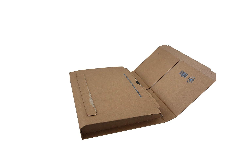 mm 302x215x15//100-25 pz a conf. Carte Dozio Scatole in cartone con alette fustellate per spedizioni F.to int