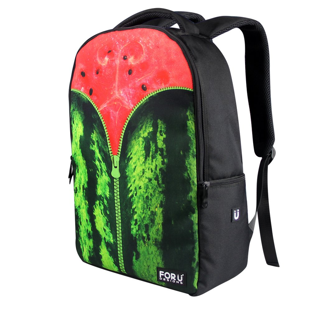 FOR U DESIGNS Red Watermelon Print Backpack with Laptop Pocket for Women and Men