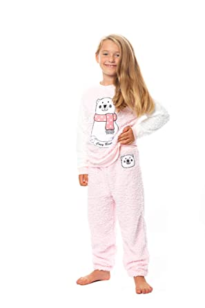 e6ecbe7e74731 Habigail Ladies Girls Pyjamas PJ's for Women Cozy Warm Fleece Twosie Pajama  Set - Mum &