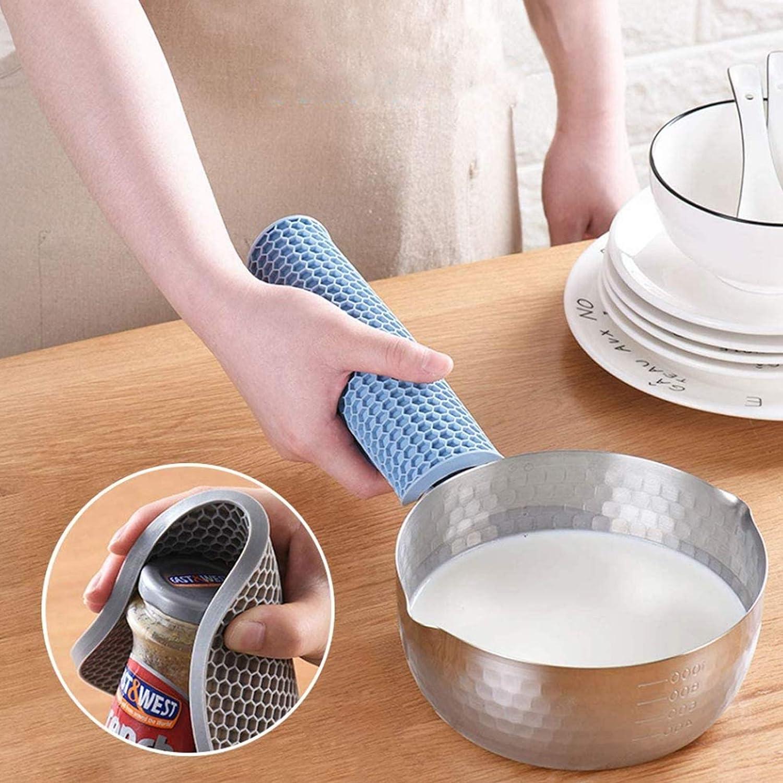 INYUNMIN 5 pezzi Sottopentola in silicone rotondo a nido dape Multifunzione in silicone Supporto per cucchiaio in silicone , Sottopentola flessibile antiscivolo per cucina da tavolo multicolore