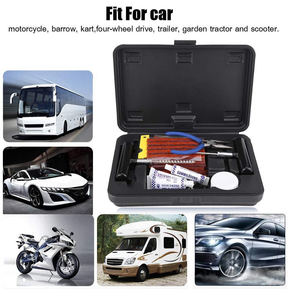 GOTOTOP 57PCS Kit de Reparación de Neumáticos sin Cámara Herramienta de Parches de Reparación de Neumáticos de Pinchazos de Moto Coche: Amazon.es: Coche y ...