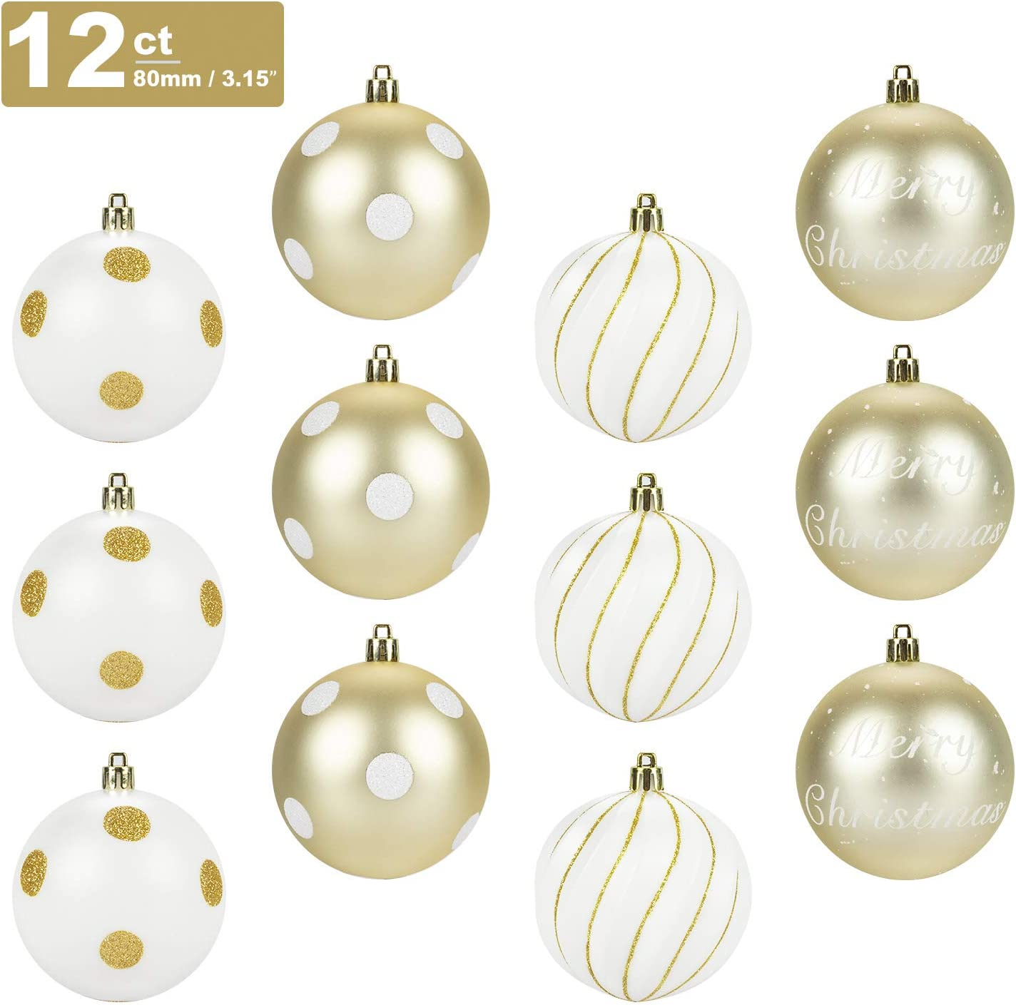 Shiny Sparkly Soft Xmas Metallic Tinsel Classic Hanging Ornaments for Christmas Tree Holiday New Years Eve Party Indoor Outdoor Ceiling Decorations Alphatool 6Pcs Christmas Golden Tinsel Garland
