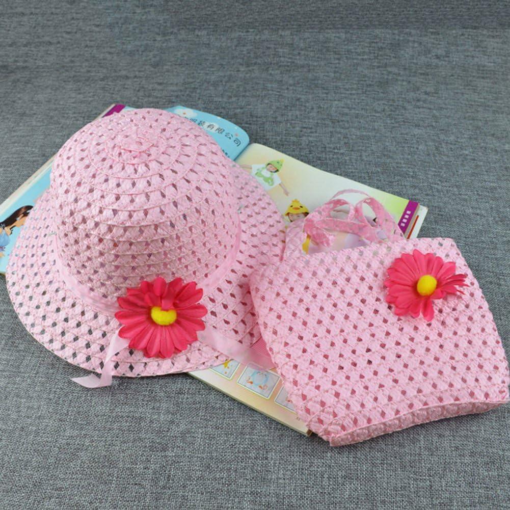 Colorido Girl Summer Flower Straw Beach Sun Hat