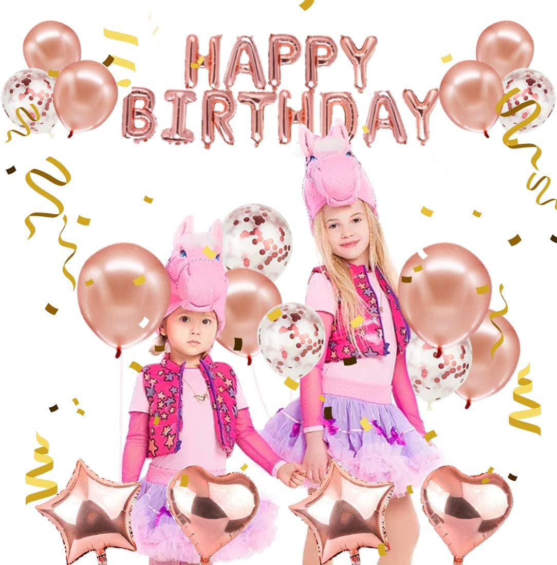 Birthday Balloon Birthday Banner Balloons Rose Gold D0X7 Birthday K1R9