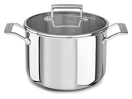 Amazon.com: KitchenAid kc2t80scst Tri-Ply 8.0 Quart Olla con ...