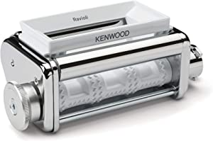 Kenwood Ravioli Attachment KAX93.A0ME Food Processors Accessories Including Large Funnel, Filling Spoon & Cleaning Brush, Chrome Stainless Steel Case
