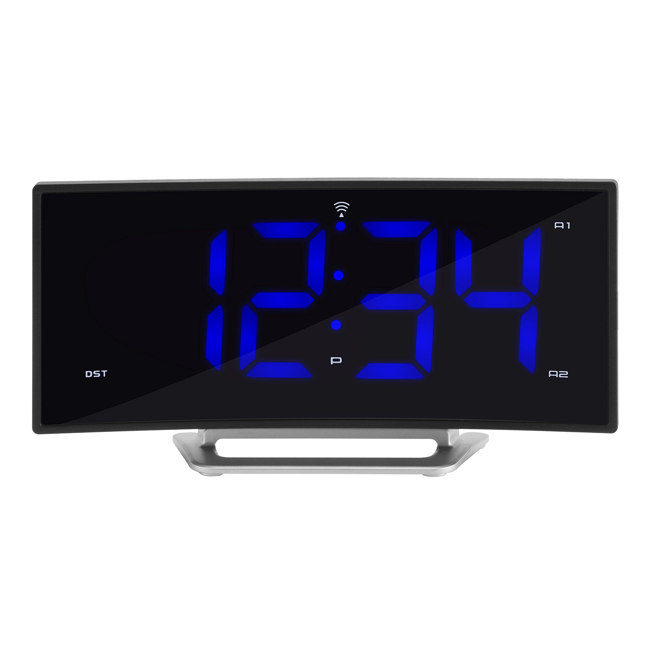 La Crosse Technology 617-249 1.8'' Curved Blue Led Atomic Dual Alarm Clock, by La Crosse Technology (Image #1)