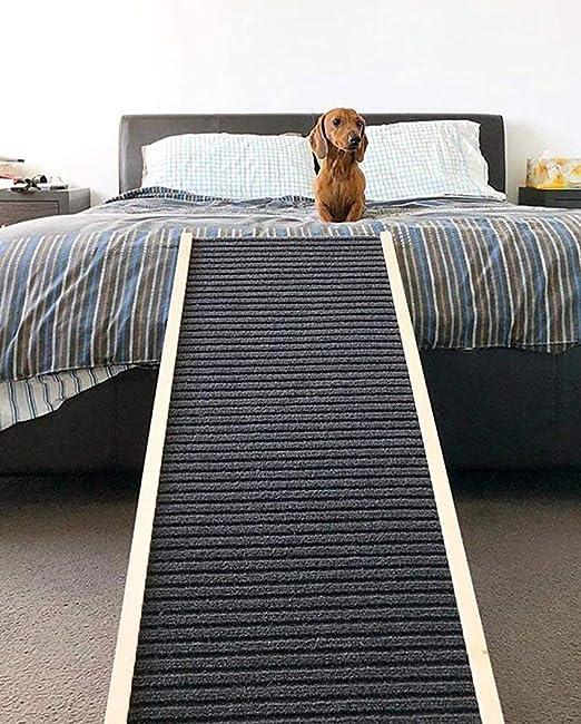 Escalera de gato de madera con pendiente ajustable del perro del recorrido,Black: Amazon.es: Hogar