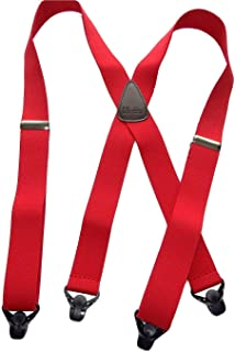 """product image for Holdup Brand 36"""" Kid sized Red X-back Suspenders with Patented Gripper Clasps"""