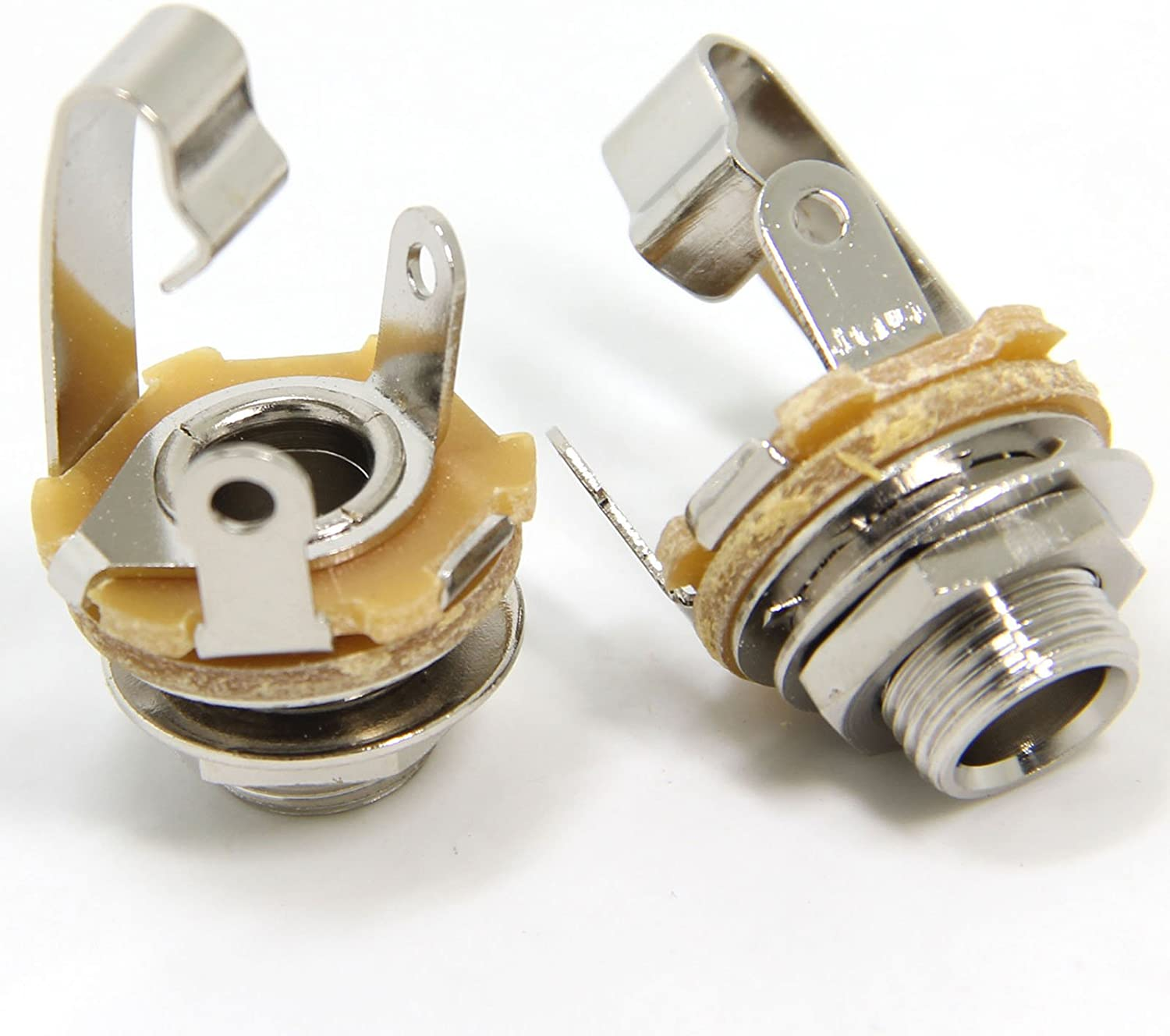 Amazon.com: Ancable 2-Pack 1/4 Inch Female Guitar Input Jack-6.35mm TS Mono  Panel Mount Socket with Washer and Nut Solder Type: Musical InstrumentsAmazon.com