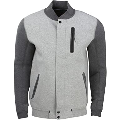 NIKE Tech Varsity Jacket 3MM Hombres Chaqueta Gris 614379 063, Size:XL: Amazon.es: Deportes y aire libre