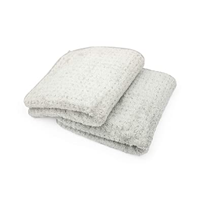 The Rag Company (2-Pack 20 in. x 40 in. Platinum PLUFFLE Professional Korean 70/30 480gsm Plush Waffle Microfiber Detailing Drying Towels: Automotive