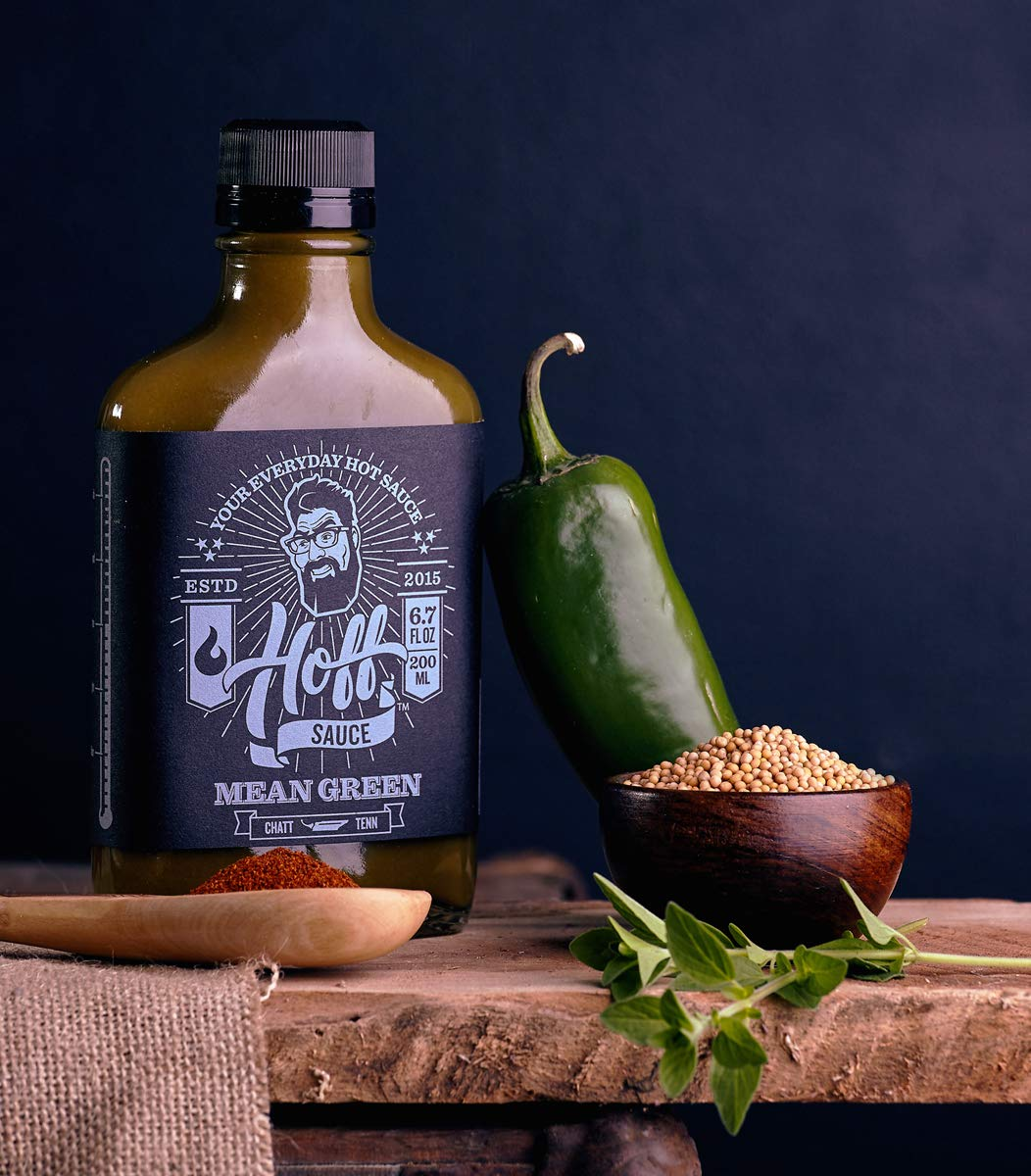 Mean Green - Hoff's Green Jalapeno Hot Sauce - 6.7oz Flask