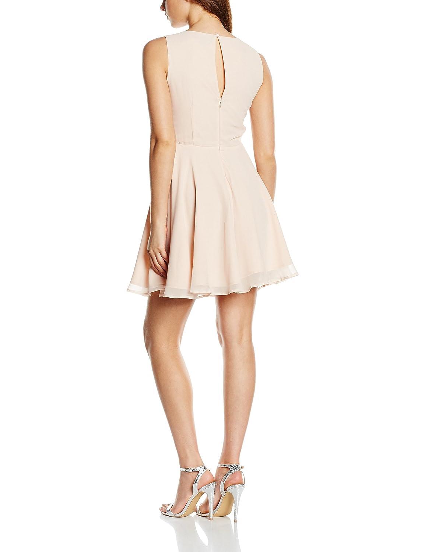 Lipsy Womens Gem Detail Skater Dress, Beige (Nude), 12: Amazon.co.uk: Clothing