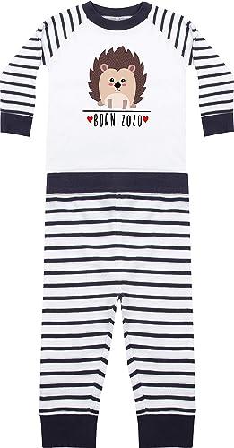 Kleckerliese Baby Kinder Schlafanzug Pyjama Jungen M/ädchen Zweiteiler Langarm mit Motiv Tiere Igel