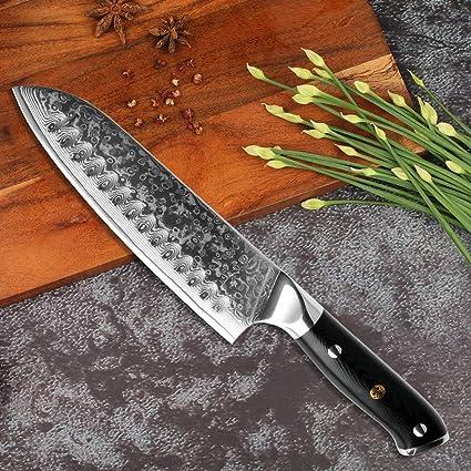 Küchenmesser Damaszener Küche Kochmesser VG10 Professionelle japanische Santoku Sushi Cleaver Utility-Schnipsel-Messer-Set G10 Griff 4PCS Set