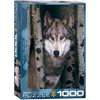 Eurographics Gray Wolf 1000-Piece Puzzle: Toys & Games