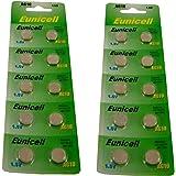 Lot de 20 piles boutons alcalines AG10 R1130/SR54/SR1131/389/390