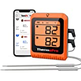 ThermoPro 500ft Long Range Bluetooth Meat Thermometer Wireless Grill Thermometer with Dual Probe Smart Rechargeable BBQ Therm