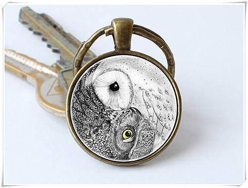 Amazon.com: Llavero con diseño de búho Yin Yang de la marca ...