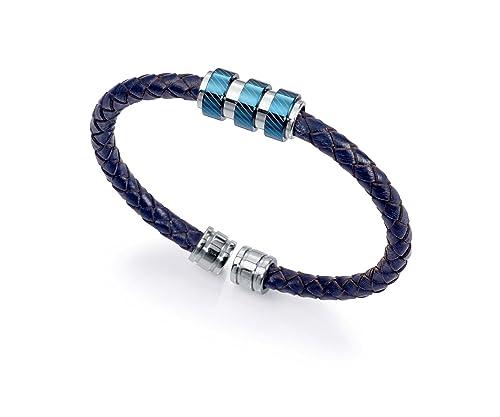 Viceroy Fashion pulsera hombre cuero azul 6350P09013: Amazon ...