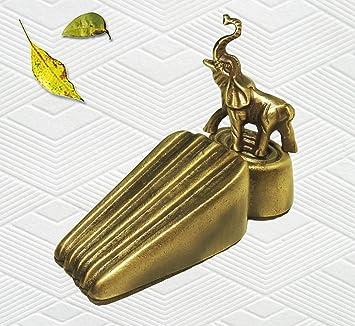 Brass Decorative Elephant Door Stopper  sc 1 st  Amazon.com & Amazon.com : Brass Decorative Elephant Door Stopper : Door Stops ... pezcame.com