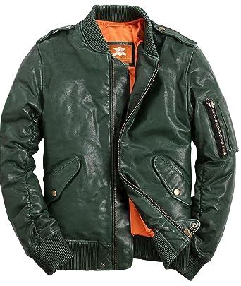 d1da4a20a Hunter Green, Original Leather, Lambskin, Bomber Jacket, Varsity ...