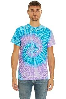 ce54111a Krazy Tees Tie Dye Style T-Shirts Men Women - Fun, Multi Color Tops